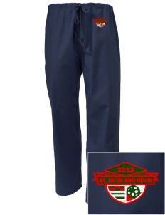 St. Kitts and Nevis Soccer Embroidered Scrub Pants