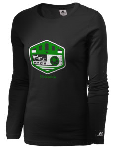 Tanzania Soccer  Russell Women's Long Sleeve Campus T-Shirt