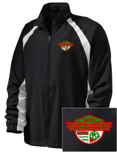 United Arab Emirates Soccer  Embroidered Men's Full Zip Warm Up Jacket