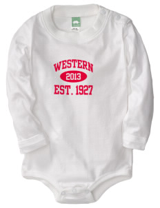 Western Seminary Est. 1927  Baby Long Sleeve 1-Piece with Shoulder Snaps