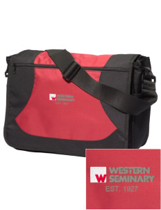 Western Seminary Est. 1927 Embroidered Midcity Messenger Bag
