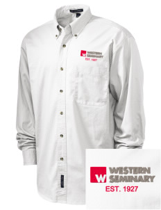 Western Seminary Est. 1927 Embroidered Men's Twill Shirt