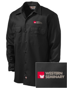 Western Seminary Est. 1927 Embroidered Dickies Men's Long-Sleeve Workshirt