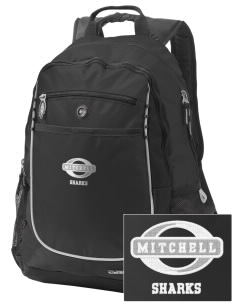 Mitchell Elementary School Sharks Embroidered OGIO Carbon Backpack