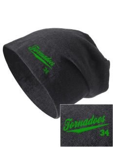 West Elementary School tornadoes Embroidered Slouch Beanie