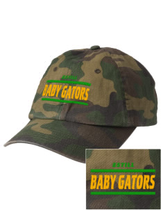 Estill Middle School Baby Gators Embroidered Camouflage Cotton Cap