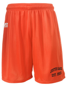 "Justus Gage Elementary School Chiefains  Russell Men's Mesh Shorts, 7"" Inseam"