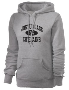 Justus Gage Elementary School Chiefains Russell Women's Pro Cotton Fleece Hooded Sweatshirt