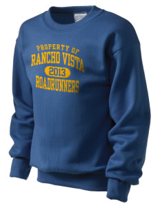 Rancho Vista Elementary School Roadrunners Kid's Crewneck Sweatshirt