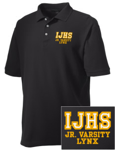 Indianola Junior High School Lynx Embroidered Men's Performance Plus Pique Polo