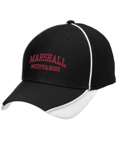 Marshall Middle School Mustangs Embroidered New Era Contrast Piped Performance Cap