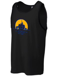 Barrow High School Whalers Men's Cotton Ringer Tank