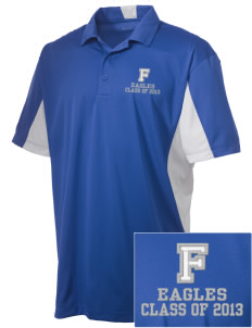 Foothill Middle School Eagles Embroidered Men's Side Blocked Micro Pique Polo