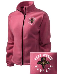 Kern Avenue Elementary School Bobcats Embroidered Women's Fleece Full-Zip Jacket