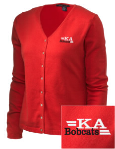 Kern Avenue Elementary School Bobcats Embroidered Women's Stretch Cardigan Sweater