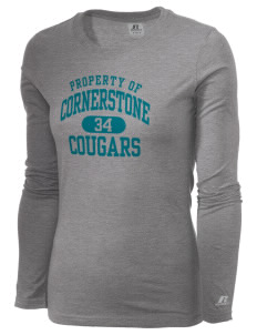 Cornerstone School Cougars  Russell Women's Long Sleeve Campus T-Shirt