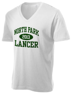 North Park Middle School Lancer Alternative Men's 3.7 oz Basic V-Neck T-Shirt