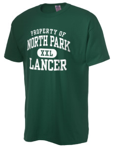 North Park Middle School Lancer  Russell Men's NuBlend T-Shirt