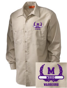 Modoc Middle School Warriors Embroidered Men's Industrial Work Shirt - Regular