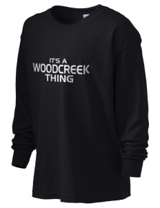 Woodcreek High School Timberwolves Kid's 6.1 oz Long Sleeve Ultra Cotton T-Shirt