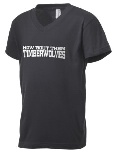 Woodcreek High School Timberwolves Kid's V-Neck Jersey T-Shirt
