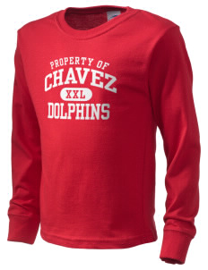 Chavez Elementary School Dolphins  Kid's Long Sleeve T-Shirt