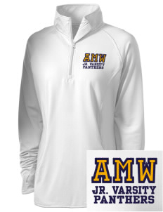 A M Winn Elementary School Panthers Embroidered Ladies Stretched Half-Zip Pullover