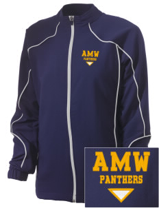 A M Winn Elementary School Panthers Embroidered Russell Women's Full Zip Jacket