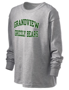 Grandview Elementary School Grizzly Bears Kid's 6.1 oz Long Sleeve Ultra Cotton T-Shirt