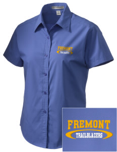 Fremont Middle School Trailblazers Embroidered Women's Short Sleeve Easy Care, Soil Resistant Shirt