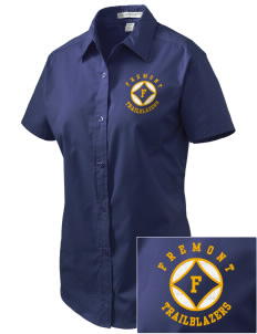 Fremont Middle School Trailblazers Embroidered Women's Easy Care Short Sleeve Shirt