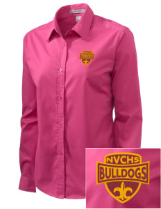 North Valley Continuation High School Bulldogs Embroidered Women's Easy-Care Shirt