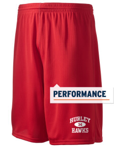 "Hurley Elementary School Hawks Holloway Men's Speed Shorts, 9"" Inseam"