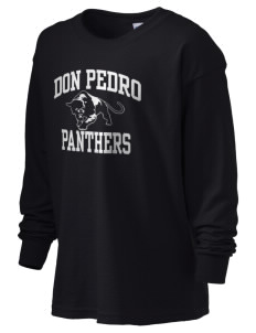 Don Pedro High School Panthers Kid's 6.1 oz Long Sleeve Ultra Cotton T-Shirt