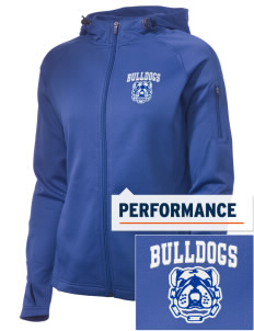 Community Learning Center Bulldogs Embroidered Women's Tech Fleece Full-Zip Hooded Jacket