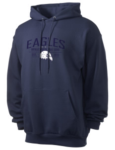 Southeast Webster Middle School Eagles Men's 7.8 oz Lightweight Hooded Sweatshirt