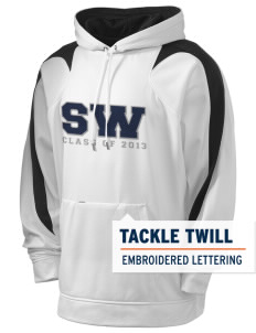 Southeast Webster Middle School Eagles Holloway Men's Sports Fleece Hooded Sweatshirt with Tackle Twill