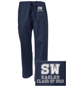 Southeast Webster Middle School Eagles Embroidered Scrub Pants