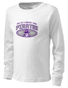 Piper East Elementary School Pirates  Kid's Long Sleeve T-Shirt