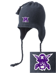 Piper East Elementary School Pirates Embroidered Knit Hat with Earflaps