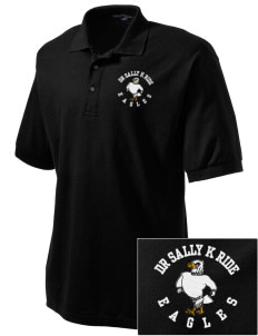 Dr Sally K Ride Elementary School Eagles Embroidered Men's Silk Touch Polo