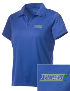 Greenspun Junior High School Dolphins Embroidered Women's Double Mesh Polo