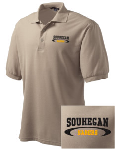 Souhegan High School Sabers Embroidered Tall Men's Silk Touch Polo