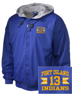 Fort Island Primary School Indians Embroidered Holloway Men's Hooded Jacket