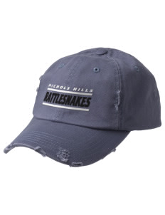 Nichols Hills Elementary School Rattlesnakes Embroidered Distressed Cap