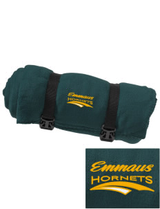 Emmaus High School Hornets Embroidered Fleece Blanket with Strap