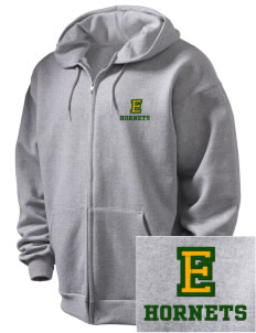 Emmaus High School Hornets Embroidered Men's Full Zip Hooded Sweatshirt