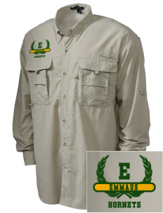 Emmaus High School Hornets Embroidered Men's Explorer Shirt with Pockets