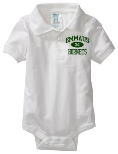 Emmaus High School Hornets  Baby Platinum Sport Shirt Creeper