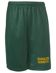"Emmaus High School Hornets Men's Long Mesh Shorts, 9"" Inseam"